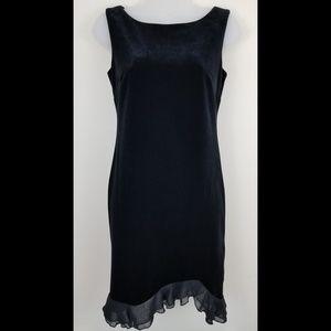 Donna Ricco Black Velvet Pull On Dress, 2P